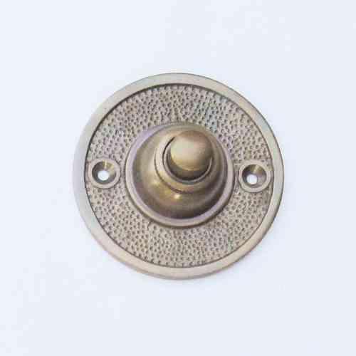 Türklingel Messing poliert Klingelplatte mit Klingeltaster Historisch K22-M